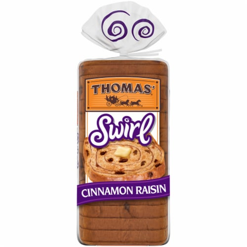 Thomas' Cinnamon Raisin Swirl Bread Perspective: back
