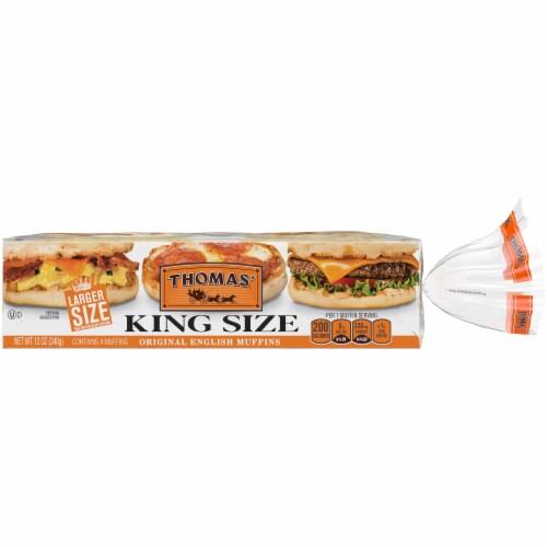 Thomas' King Size Original English Muffins Perspective: back