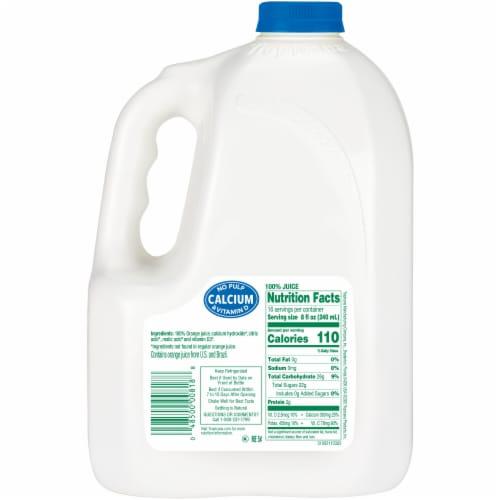 Tropicana Pure Premium® No Pulp Orange Juice with Calcium & Vitamin D Perspective: back