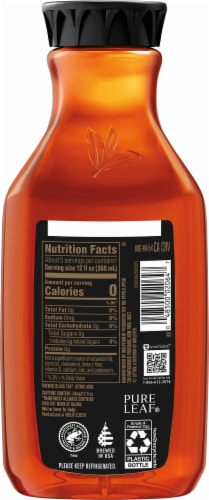Pure Leaf® Real Brewed Unsweetened Black Tea Perspective: back