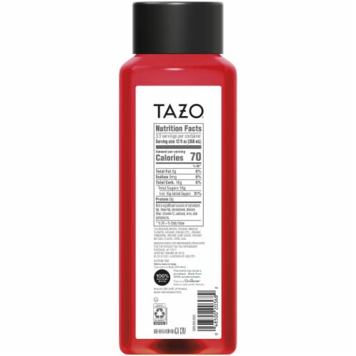 Tazo Iced Tea Hibiscus Passion Herbal Tea Bottle Perspective: back