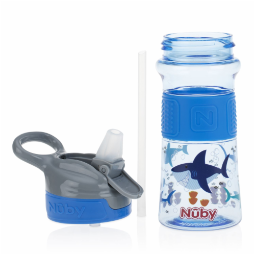 Nuby Flip-It ReFlex Push Button Soft Spout on the Go Cup - Assorted Perspective: back