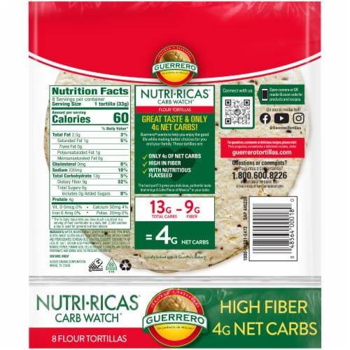 Guerrero Nutri-Ricas Carb Watch Flour Tortillas Perspective: back
