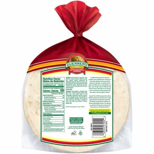 Guerrero Tortillas de Harina Caseras Fajita Flour Tortillas Perspective: back