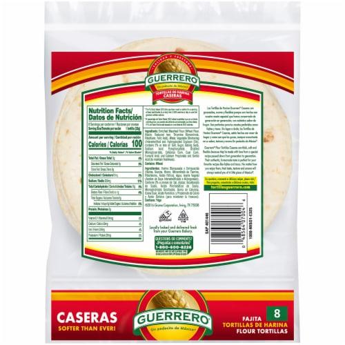 Guerrero Caseras Fajita Flour Tortillas Perspective: back