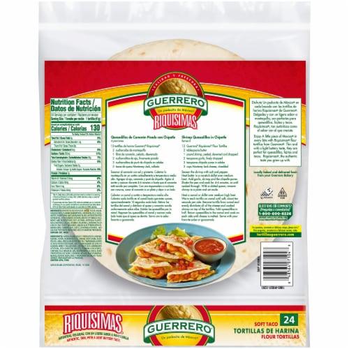 Guerrero Riquisimas Soft Taco Flour Tortillas Perspective: back
