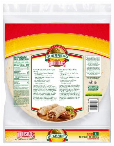 Guerrero Riquisimas Burrito Grande Flour Tortillas Perspective: back