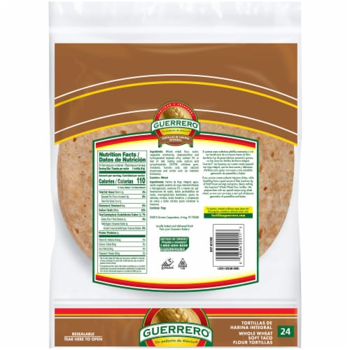 Ralphs Guerrero Triguenas Whole Wheat Soft Taco Flour Tortillas 24 Count 35 Oz