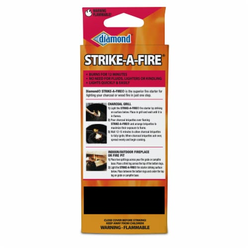 Diamond Strike-a-Fire Starter Matches Perspective: back
