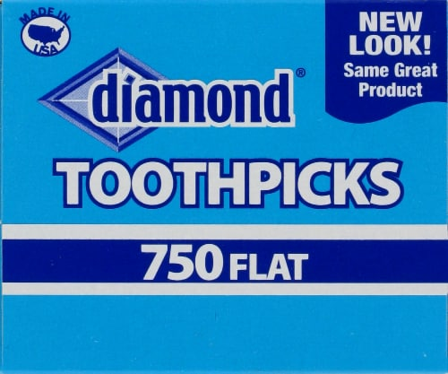 Diamond Flat Toothpicks Perspective: back
