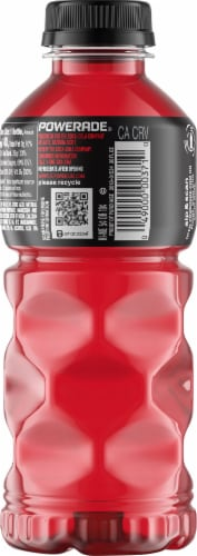 Powerade Fruit Punch Electrolyte Enhanced Sports Drink Perspective: back