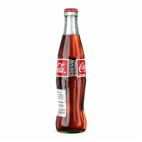 Coca-Cola Glass Bottle Soda Perspective: back
