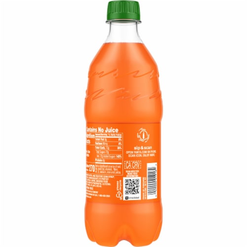 Fanta Orange Flavored Soda Perspective: back