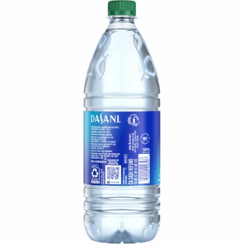 Dasani Purified Water Bottle Perspective: back