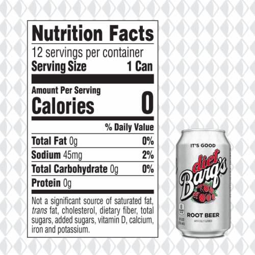 Barq's® Diet Root Beer Soda Perspective: back