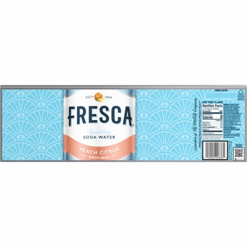Fresca Peach Citrus Sparkling Soda Water Fridge Pack Perspective: back