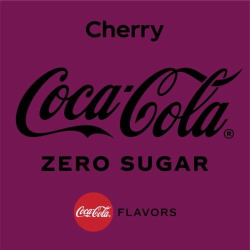 Coca-Cola Cherry Zero Sugar Soda Perspective: back