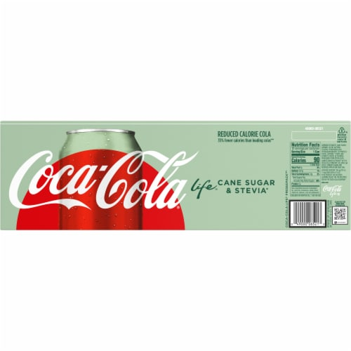 Coca-Cola Life Reduced-Calorie Soda with Stevia Perspective: back