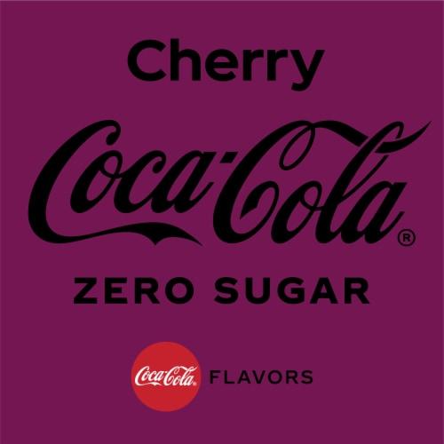 Coca-Cola Zero Sugar Cherry Flavored Cola Perspective: back