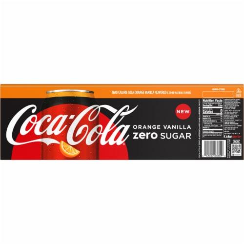 Coca-Cola Zero Sugar Orange Vanilla Cola Soda Perspective: back