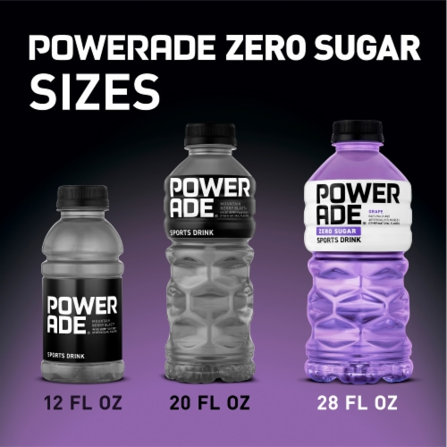 Powerade Zero Grape Sports Drink Perspective: back