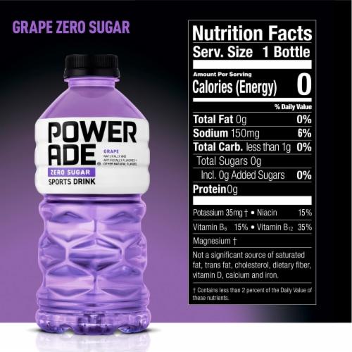 Powerade Zero Sugar Grape Sports Drink Perspective: back