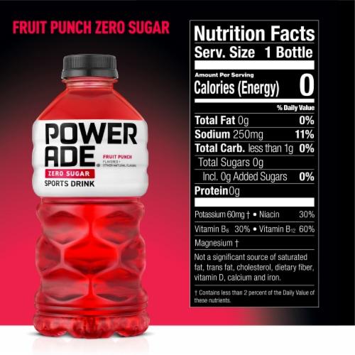Powerade Zero Sugar Fruit Punch Sports Drink Perspective: back