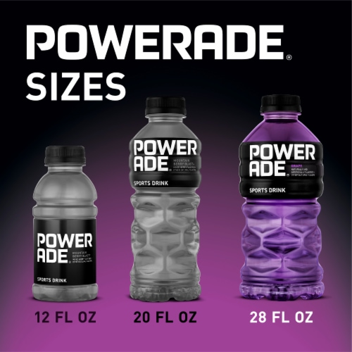 Powerade Grape Sports Drink Perspective: back