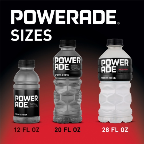 Powerade® White Cherry Flavored Sports Drink Perspective: back