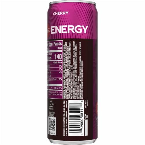 Coca-Cola Cherry Energy Drink Perspective: back