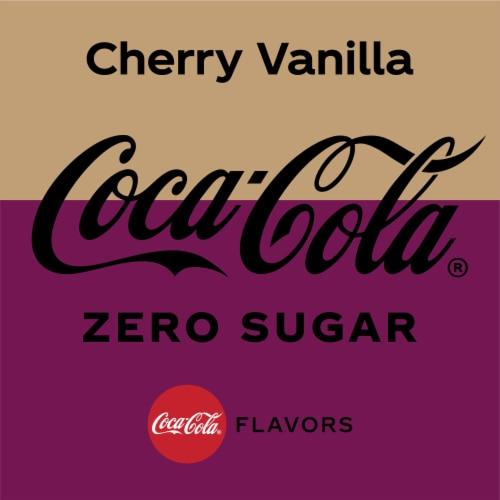 Coca-Cola Cherry Vanilla Zero Sugar Cola Soda Perspective: back