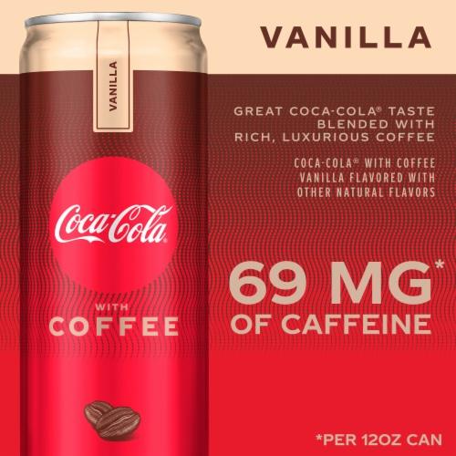 Coca-Cola with Coffee Vanilla Soda Perspective: back
