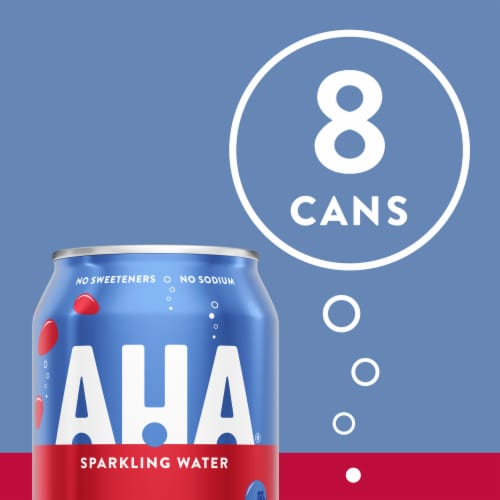 AHA Blueberry & Pomegranate Sparkling Water Perspective: back