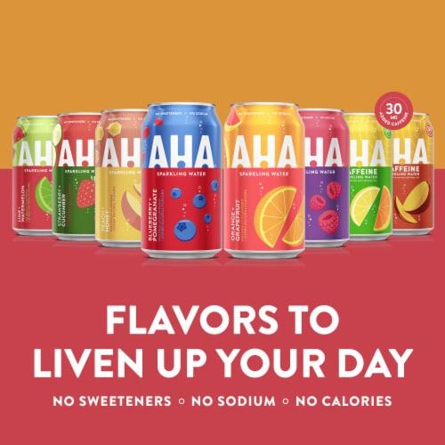 AHA Citrus + Green Tea Caffeine Sparkling Water Perspective: back