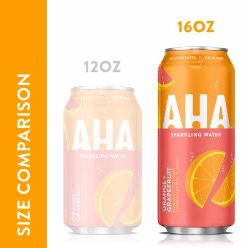AHA Orange Grapefruit Sparkling Water Perspective: back