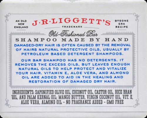 JR Liggett's Moisturizing Formula Old Fashioned Bar Shampoo Perspective: back