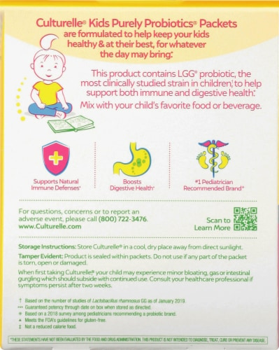 I-Health Culturelle® Kids Purely Probiotics® Packets Perspective: back