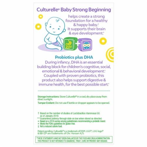 Culturelle Baby + DHA Probiotics Perspective: back
