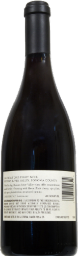 La Crema Russian River Valley Pinot Noir Red Wine Perspective: back