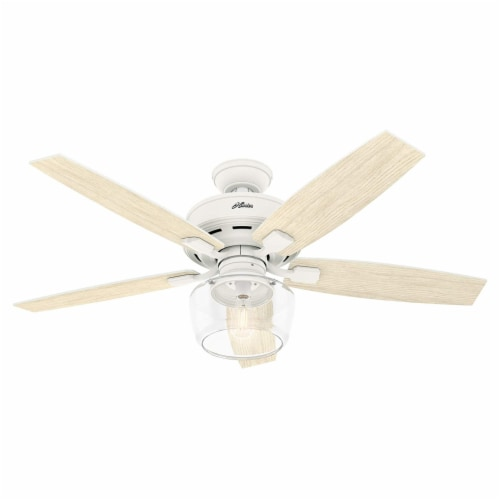 Hunter Bennett 52 Inch Indoor LED Ceiling Fan with Remote Control, Matte White Perspective: back