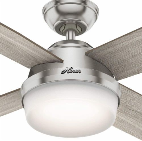 Hunter Fan Company 50284 Dempsey Ceiling Fan with LED Light and Remote, Grey Oak Perspective: back