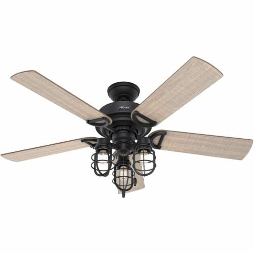 Hunter 52 Inch Starklake Indoor/Outdoor Ceiling Fan w/ 3 Lights, Natural Iron Perspective: back