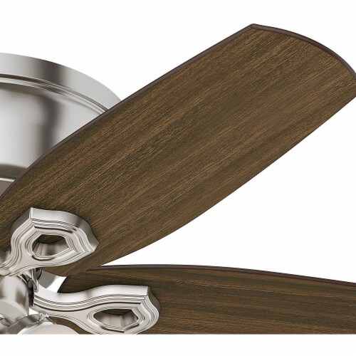 """Hunter Builder 42"""" Quiet Low Profile Ceiling Fan with LED Lights, Brushed Nickel Perspective: back"""