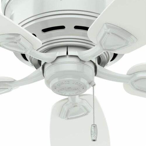 """Hunter Fan Company 53119 Sea Wind Versatile Low Profile 48"""" Ceiling Fan, White Perspective: back"""