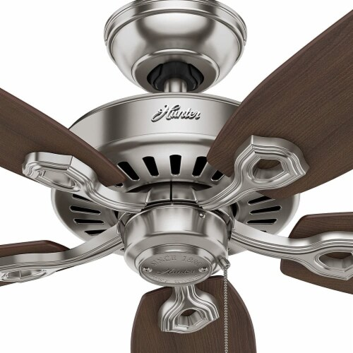 Hunter Fan Company Builder Elite Quiet Home Ceiling Fan with Pull Chain - Brushed Nickel Perspective: back