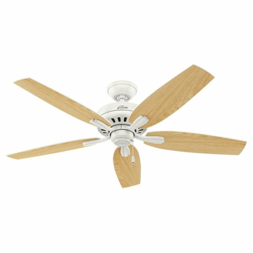 Hunter Fan 53319 Company Newsome 52 Inch Quiet Indoor Ceiling Fan, Fresh White Perspective: back