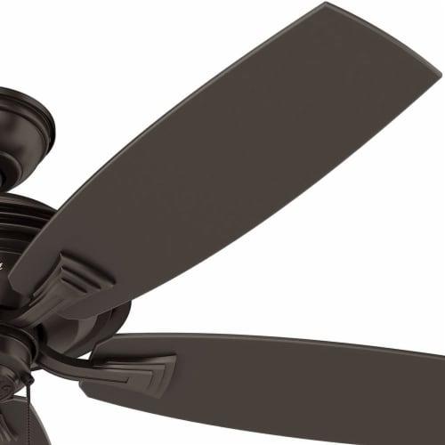 Hunter Fan Company Rainsford 52 Inch Ceiling Fan w/ Pull Chain Control, Bronze Perspective: back