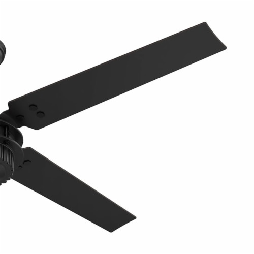 "Hunter Fan Company 54"" Chronicle Industrial Ceiling Fan w/ Control, Matte Black Perspective: back"