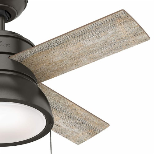 Hunter Fan Company Loki 36-Inch Home Ceiling Fan with LED Light, Noble Bronze Perspective: back