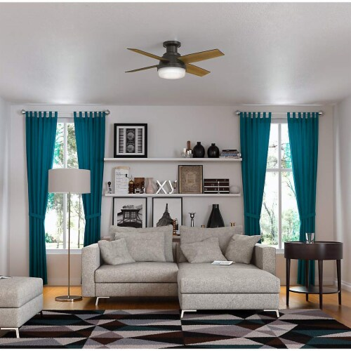 Hunter 44 Inch Dempsey Low Profile Ceiling Fan w/ Light & Remote, Noble Bronze Perspective: back